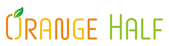 宇部市の個別学習塾オレンジハーフロゴ
